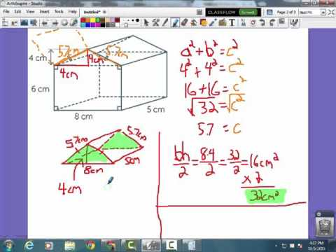 Math Unit 1 Surface Area of a Composite Shape
