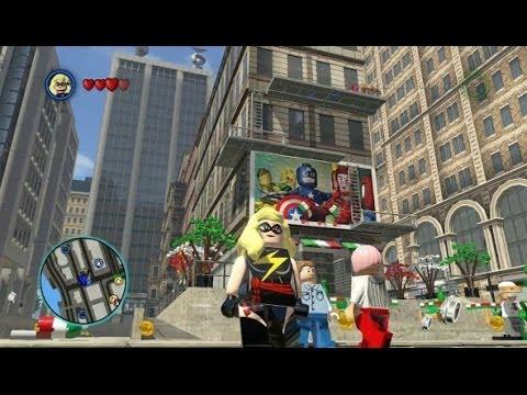 LEGO Marvel Super Heroes - Unlocking Ms. Marvel + Free Roam Gameplay (Character Token Guide)