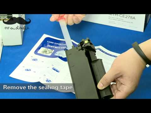 How to install Moustaches CE278A toner cartridge for HP Laserjet P1606DN