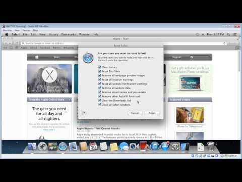 Reset Safari to default settings (MAC)