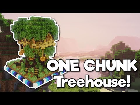 Minecraft: Treehouse in ONE CHUNK! [Tutorial]