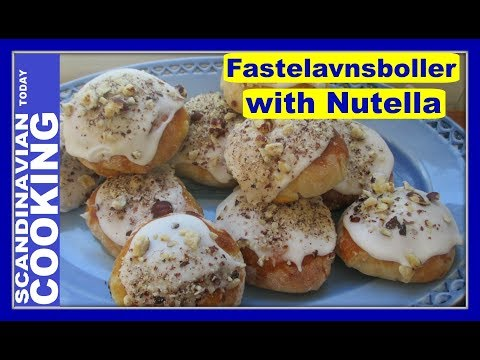 Fastelavnsboller with Nutella with Chopped Hazelnuts - Easy Fastelavn Buns Recipe