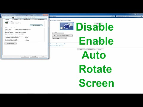 How to enable disable auto rotate screen [HD]