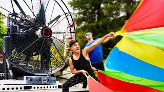 Download World's STRONGEST Fan VS Parachute Video