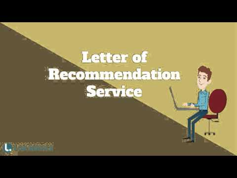 Best Letter of Recommendation Writing Service