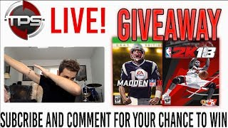 Conference Finals Watch Party, HUGE Madden 18 + NBA 2k18 GIVEAWAY, and Q+A