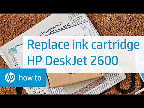 How To Replace an Ink Cartridge in the HP DeskJet 2600 All-in-One Printer Series