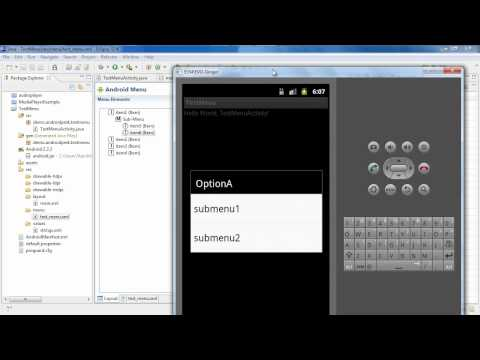 How to Develop Android Apps | Android Options Menu [pt1]