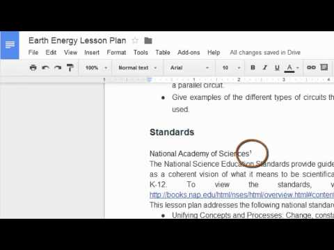 Using Footnotes in Google Documents