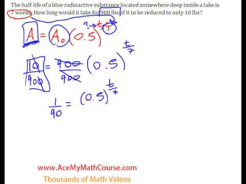 Half-Life Question - Solving for Time (Using Logarithms) #2