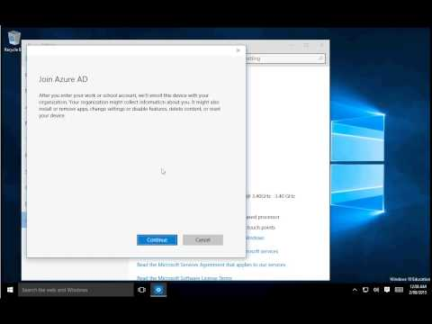How to join Azure AD from a Windows 10 computer