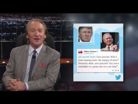 Real Time with Bill Maher: Hillary Tweets Like Trump (HBO)