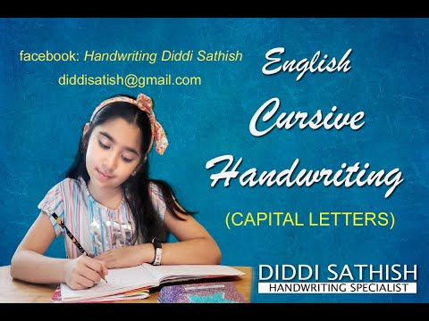 English Cursive Handwriting Capital Letters by DIDDI SATHISH