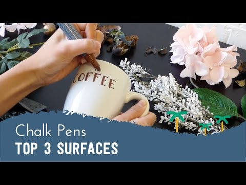 Top 3 surfaces for Chalk Pens - Chalkboard, Glass, Ceramic | Stationery Island