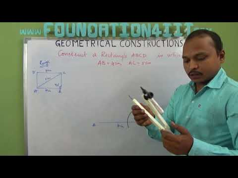 How to Construct a Rectangle When its one side and one diagonal are given