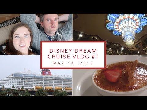 Disney Cruise Vlog Day 1   Ship Embarkation, Our Stateroom, + Dinner at Royal Palace   May 14, 2018