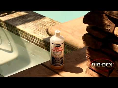 How to Remove Tile Scale Using 300 Tile Cleaner - Ultimate Pool Guy & Bio-Dex in HD !!!