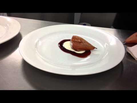 0319 poach pear in redwine 3
