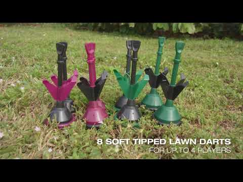 Lawn Dart Set with Wood Crate