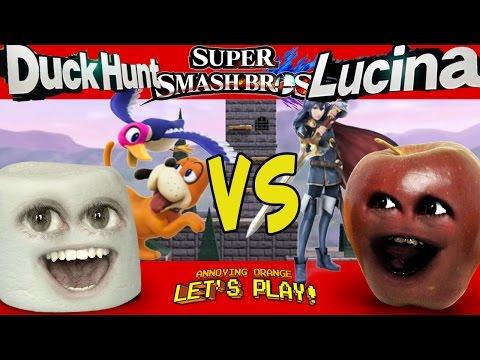 SUPER SMASH BROS - Marshmallow vs Midget Apple! (Duck Hunt vs Lucina)