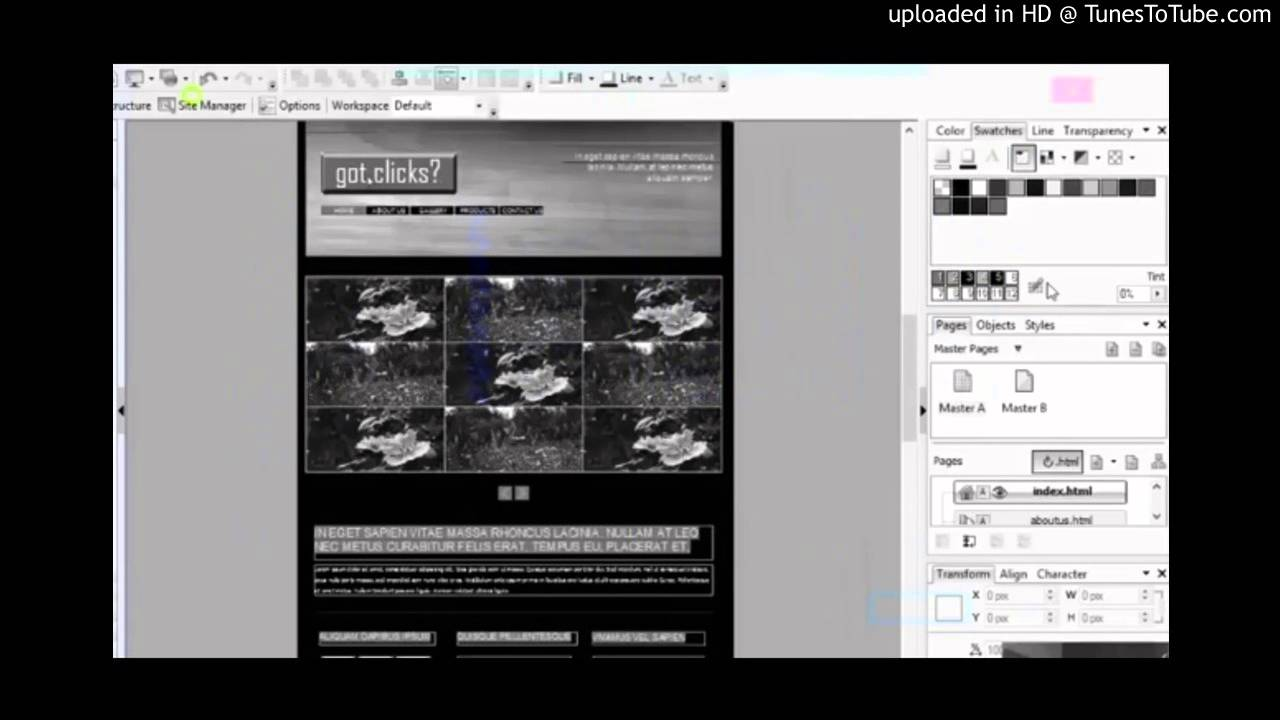 Serif WebPlus X8 Lesson 1 - Getting Started