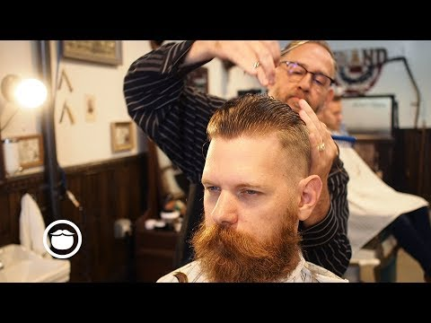 Eric Bandholz Gets a Short Pompadour With a High Fade and Side Part