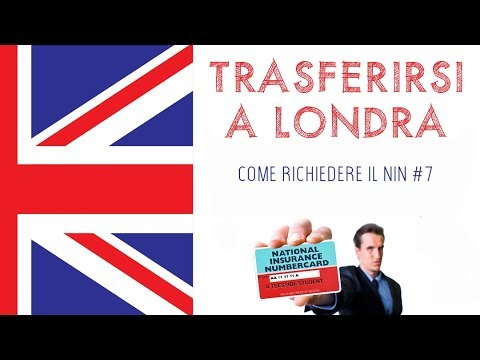 TRASFERIRSI A LONDRA | Richiedere il NIN #7 | National insurance number | London life