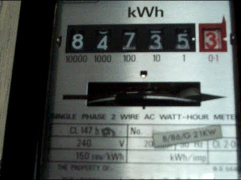 Electricity Meter : Accuracy test, Landis & Gyr CL 147h kWh meter.