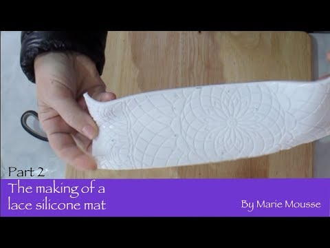 Making of a lace silicone mat- part 2