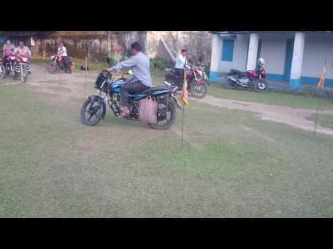 Bike driving license exam test....