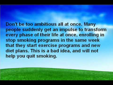 Stop Smoking Programs - Advice For Smokers To Quit For Good!