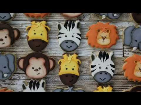 Decorating Zoo Critter Cookies With Glaze Icing