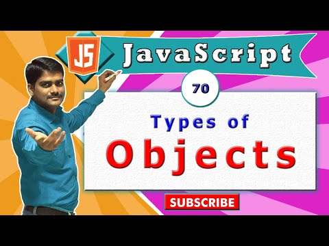 JavaScript tutorial 87 - Types of objects in javascript