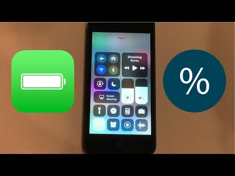 How to get battery percentage on iPod Touch in iOS 11