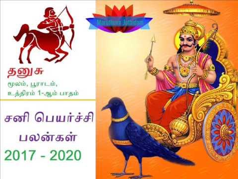 Sani peyarchi 2017 to 2020 Dhanushu Rasi | சனி