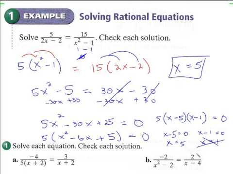 9.6 Solving rational expressions