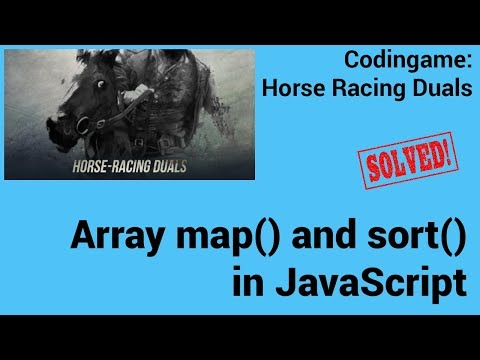 Array map and sort in JavaScript. Codingame: Horse Racing Duals - Solved