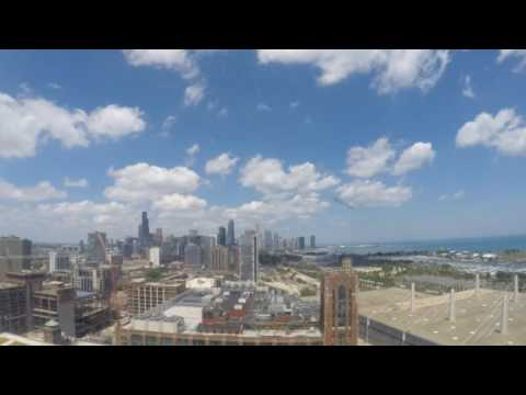 Chicago downtown skyline time lapse from the Hyatt Regency McCormick Place