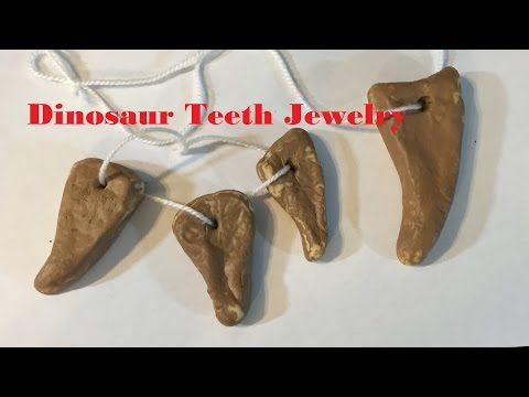 How to make a Dinosaur Teeth Jewelry  21