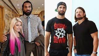 10 Surprising WWE FRIENDS in Real Life - Alexa Bliss, Jinder Mahal, AJ Styles, Seth Rollins