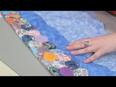 How to finish a Hexagon Quilt by Nancy Adamek (taster video)