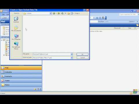 How to add an Archive Folder (PST) in Outlook 2003 www.touchlines.co.uk
