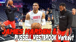 James Harden and Russell Westbrook *crazy *  Workout