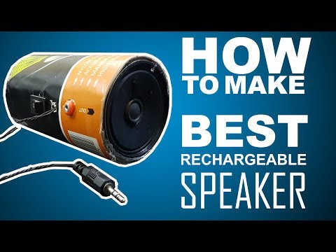 How To Make Best Rechargeable high bass speaker - easy way