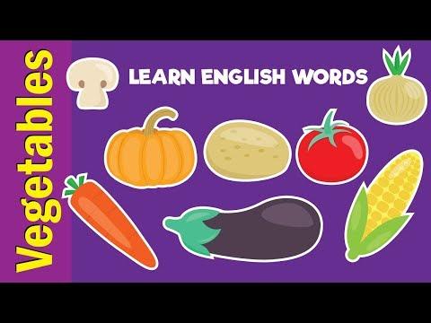 Learn Vegetable Names | Video Flash Cards | Kindergarten, Preschool, ESL for Kids | Fun Kids English