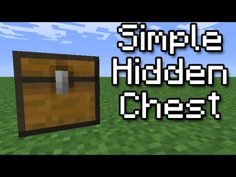 [Minecraft Tutorial] Simple Hidden Chest