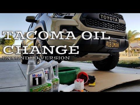 How to - DIY Oil & Filter Change on 2016 2017 Toyota Tacoma  3.5 liter V6