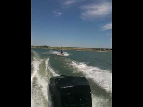 Josh Wakeboarding again