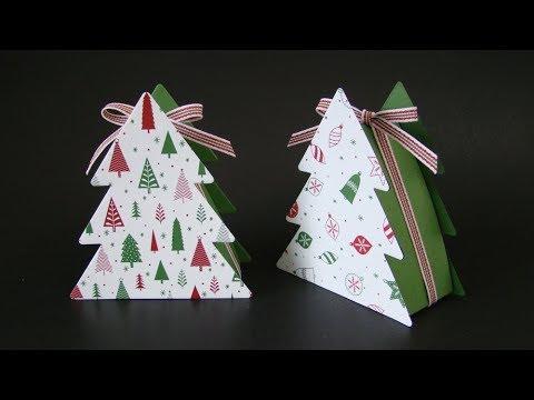 Christmas Tree Boxes Tutorial