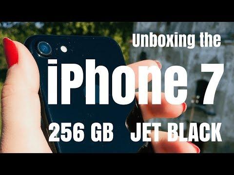 iPhone 7, Jet Black, 256GB - Unpacking, Unboxing
